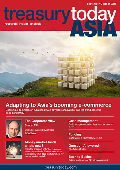 Treasury Today Asia September/October 2021 magazine cover