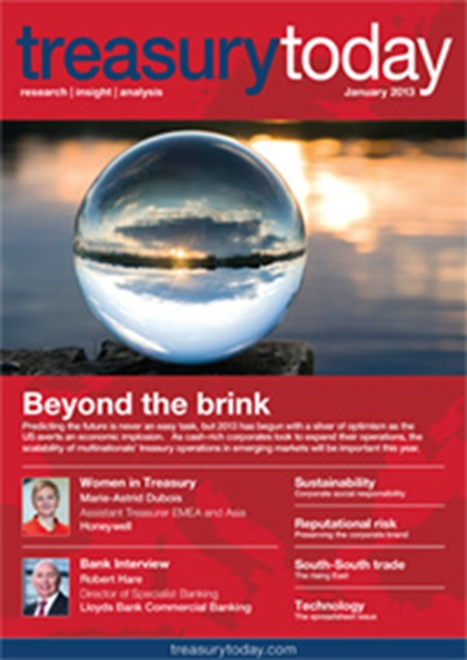 Treasury Today January 2013 magazine cover