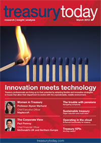 Treasury Today March 2013 magazine cover