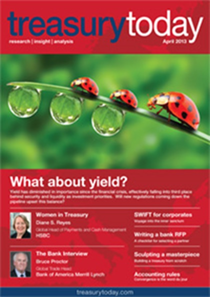 Treasury Today April 2013 magazine cover