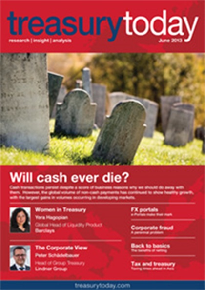Treasury Today June 2013 magazine cover