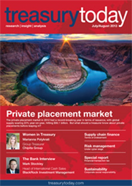 Treasury Today July/August 2013 magazine cover