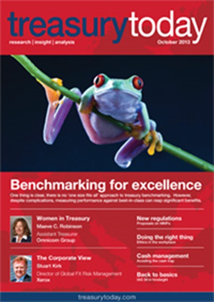 Treasury Today October 2013 magazine cover