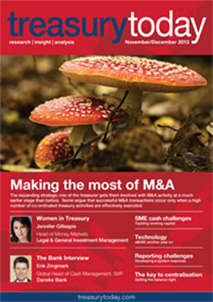Treasury Today November/December 2013 magazine cover