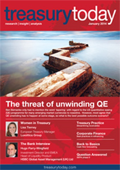 Treasury Today January 2014 magazine cover