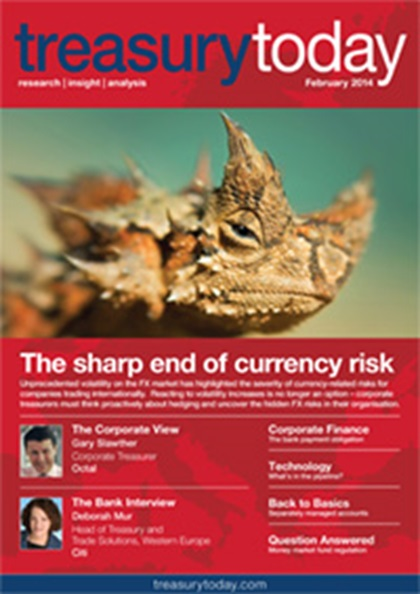 Treasury Today February 2014 magazine cover