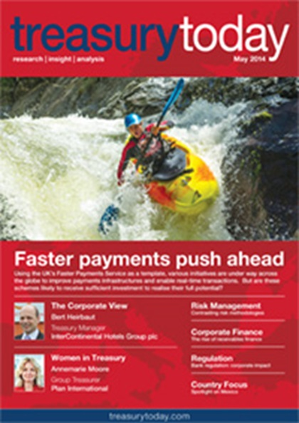 Treasury Today May 2014 magazine cover