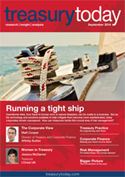 Treasury Today September 2014 magazine cover