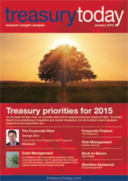Treasury Today January 2015 magazine cover