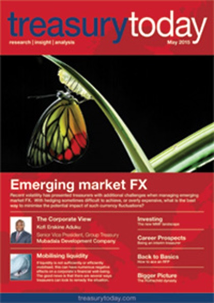 Treasury Today May 2015 magazine cover