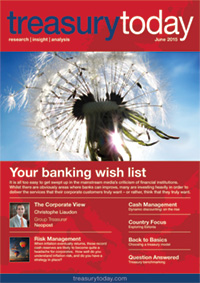 Treasury Today June 2015 magazine cover