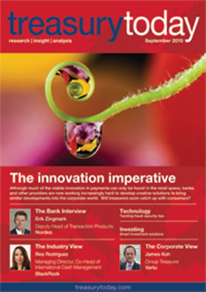 Treasury Today September 2015 magazine cover