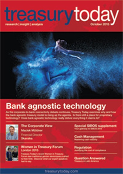 Treasury Today October 2015 magazine cover