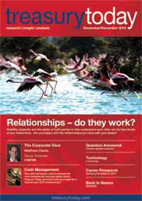 Treasury Today November/December 2015 magazine cover