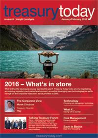 Treasury Today January/February 2016 magazine cover