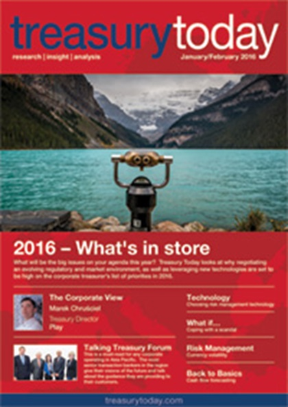 Treasury Today January/February 2016 magazine cover