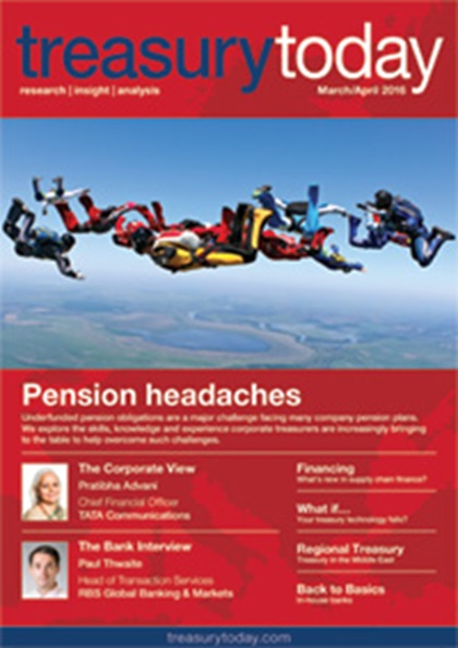 Treasury Today March/April 2016 magazine cover