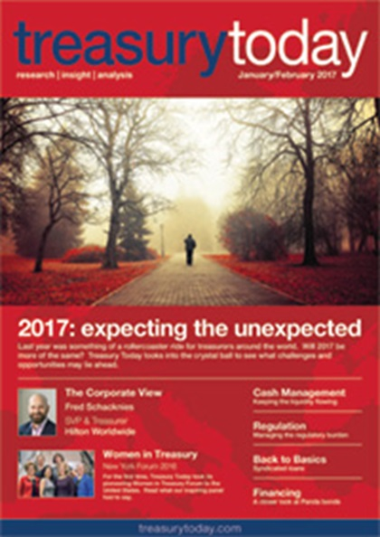 Treasury Today January/February 2017 magazine cover