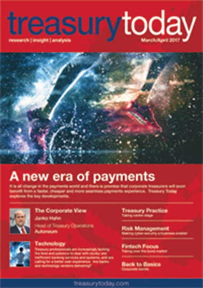 Treasury Today March/April 2017 magazine cover