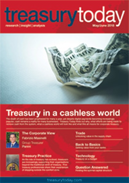 Treasury Today May/June 2018 magazine cover