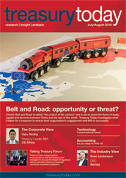 Treasury Today July/August 2018 magazine cover