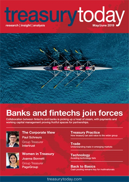 Treasury Today May/June 2019 magazine cover