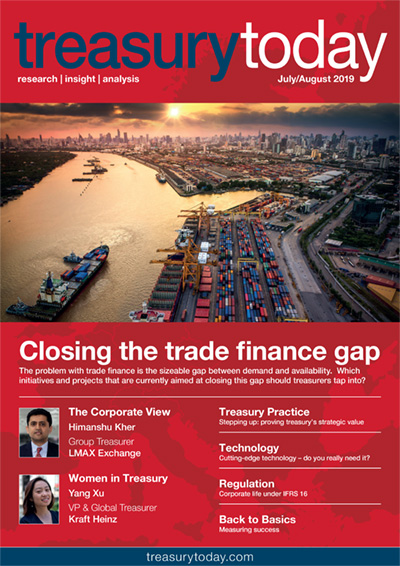 Treasury Today July/August 2019 magazine cover