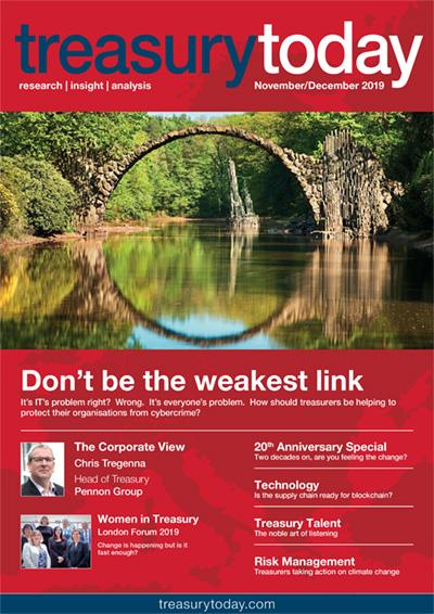 Treasury Today November/December 2019 magazine cover