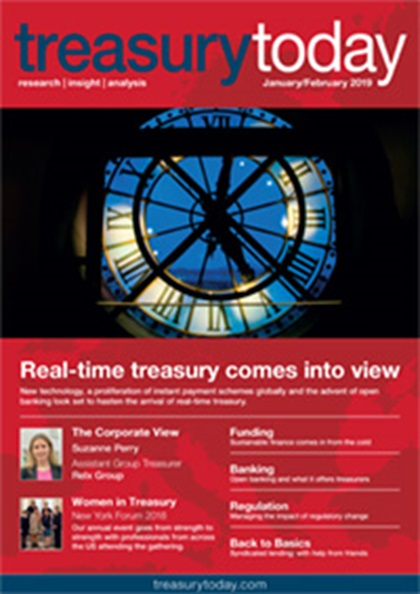 Treasury Today January/February 2019 magazine cover