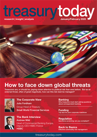 Treasury Today January/February 2020 magazine cover