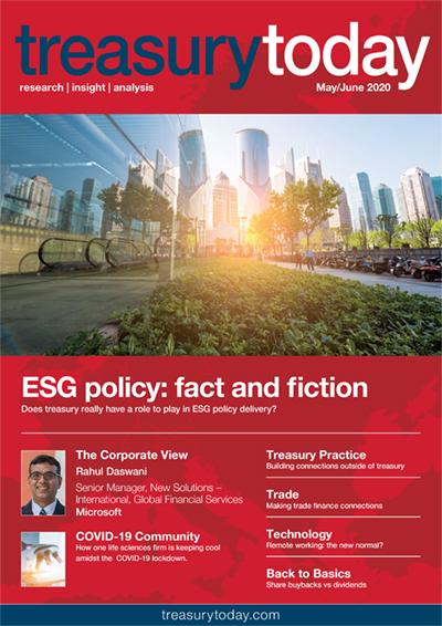 Treasury Today May/June 2020 magazine cover