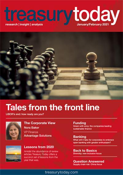 Treasury Today January/February 2021 magazine cover