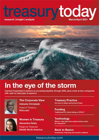 Treasury Today March/April 2021 magazine cover