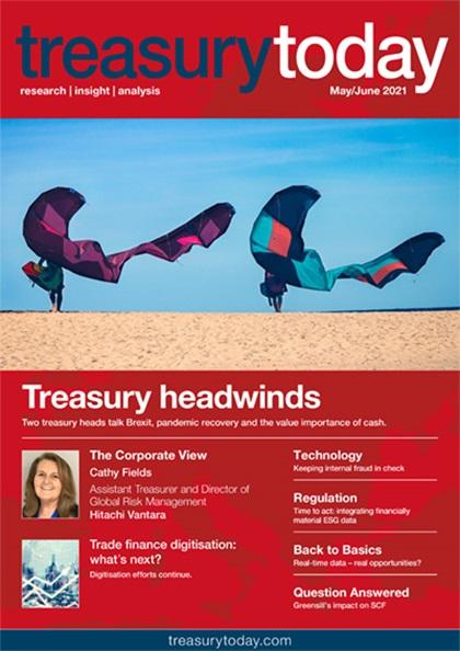 Treasury Today May/June 2021 magazine cover