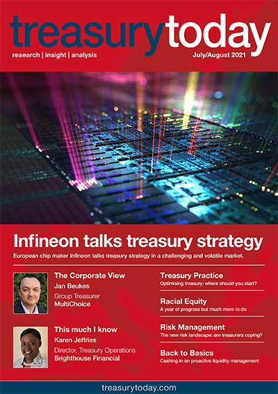 Treasury Today July/August 2021 magazine cover