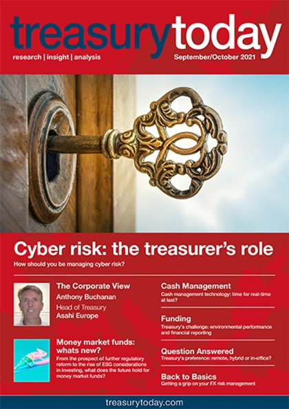 Treasury Today September/October 2021 magazine cover
