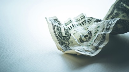 Crumpled Dollar