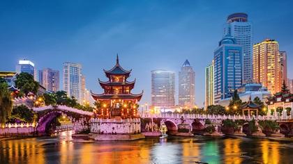Guiyang China Skyline Jiaxiu Pavillion