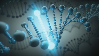 DNA helix presenting the concept of evolution
