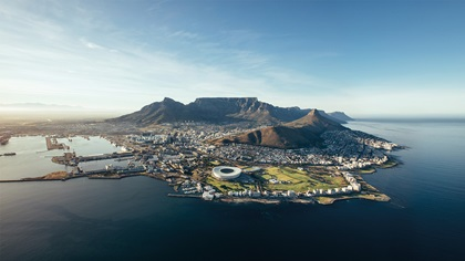 Coastal view of Cape Town