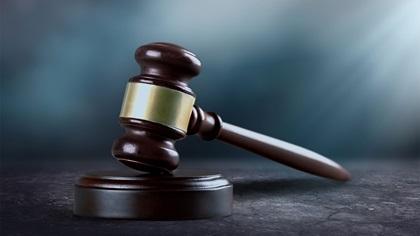 Judges wooden gavel, justice concept