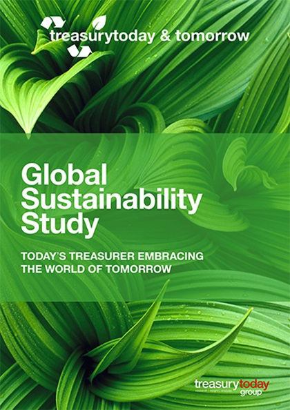 Treasury Today Group Global Sustainability Study 2020 cover