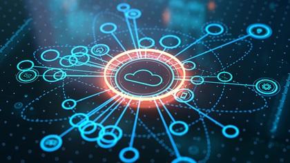 Cloud technology concept