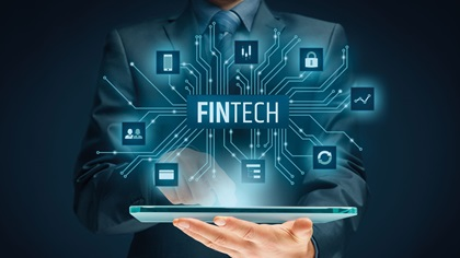 Fintech financial technology concept