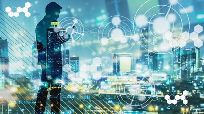 Digital revolution, internet of things concept
