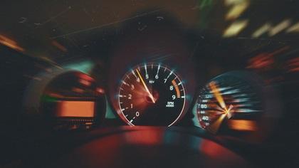 Sports car interior & Speedometer