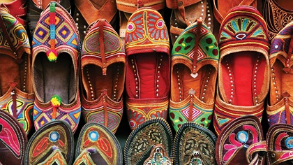 Traditional Indian slipper shoes