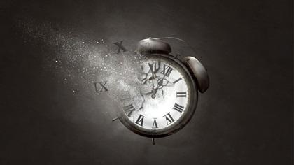 Alarm clock disintergrating