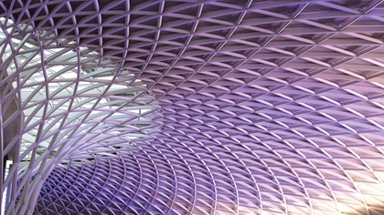 Detailed roof at Kings Cross station