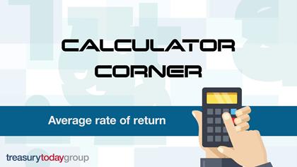 Calculator Corner: average rate of return
